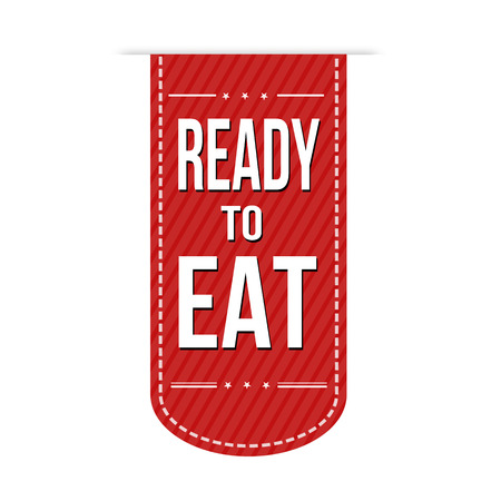 made to order: Ready to eat banner design over a white background, vector illustration