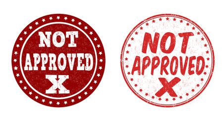 restricted access: Not approved grunge rubber stamps on white background, vector illustration Illustration
