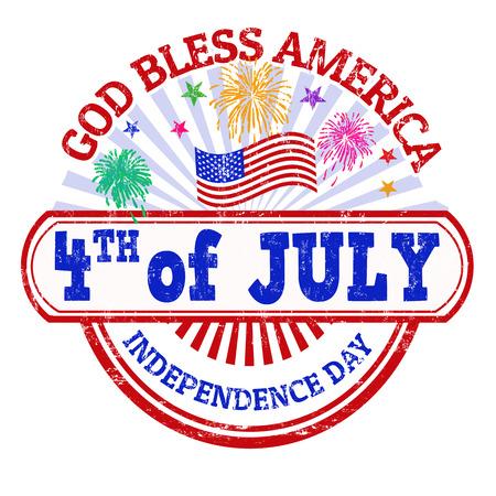 independencia: Día de la Independencia grunge sello de goma en el fondo blanco, ilustración vectorial Vectores