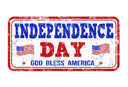 Independence Day grunge rubber stamp on white background, vector illustration