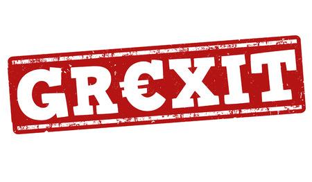gr: Grexit grunge rubber stamp on white background, vector illustration Illustration