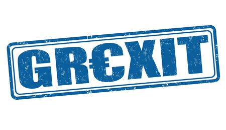 gr: Grexit grunge rubber stamp on white background, vector illustration Illustration