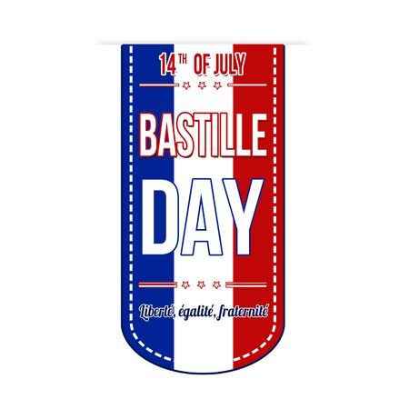 bastille: Bastille day banner design over a white background, vector illustration