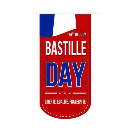 bastille: Bastille day banner design over a white background, vector illustration