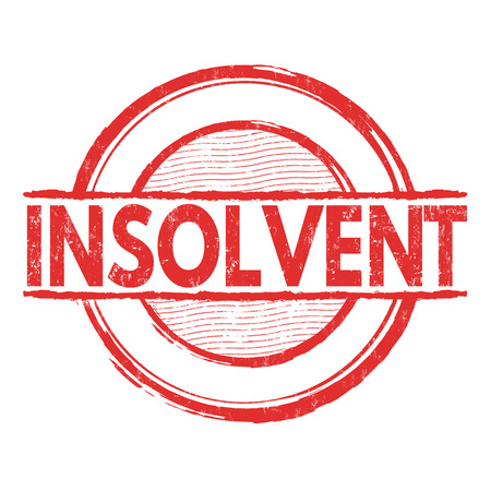 liquidation: Insolvent grunge rubber stamp on white background, vector illustration