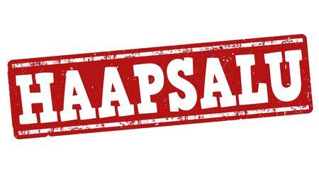 european culture: Haapsalu grunge rubber stamp on white background, vector illustration