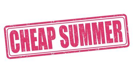 cheap: Cheap summer grunge rubber stamp on white background, vector illustration Illustration