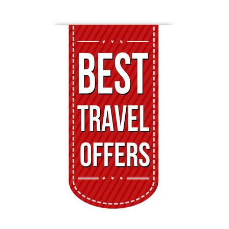 best travel destinations: Best travel offers banner design over a white background, vector illustration