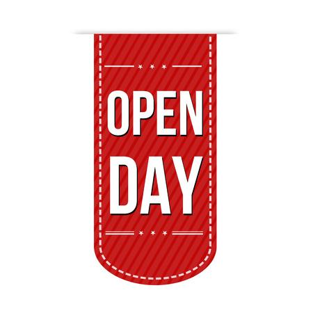 Open Dag banner ontwerp op een witte achtergrond, vector illustratie