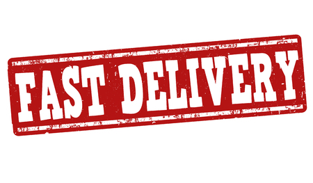 fast delivery: Fast delivery grunge rubber stamp on white background, vector illustration