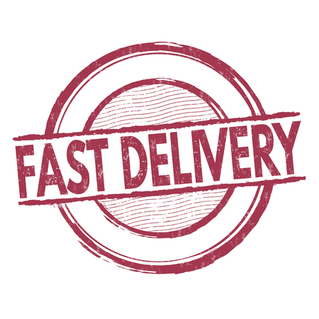 express delivery: Fast delivery grunge rubber stamp on white background, vector illustration