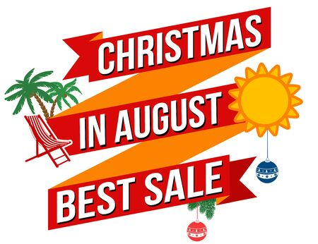 advertised: Christmas in august best sale banner design over a white background
