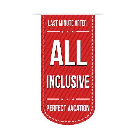 inclusive: All inclusive banner design over a white background Illustration