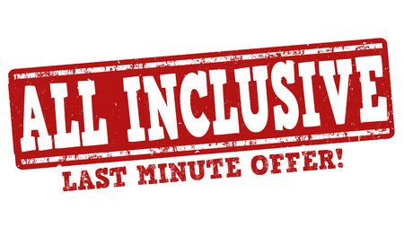 inclusive: All inclusive grunge rubber stamp on white background Illustration