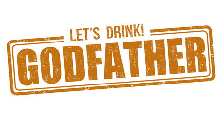 godfather: Godfather cocktail grunge rubber stamp on white background Illustration