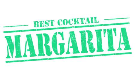 liqueur labels: Margarita cocktail grunge rubber stamp on white background