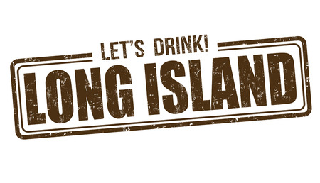 long island: Long island cocktail grunge rubber stamp on white background