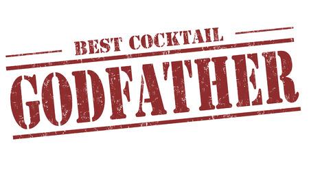 godfather: Godfather cocktail grunge rubber stamp on white background Illustration