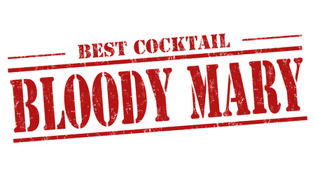 Bloody Mary cocktail grunge rubber stamp on white background Иллюстрация