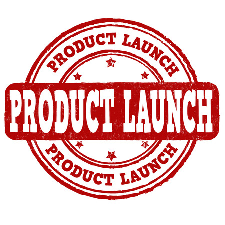 launching: Product launch grunge rubber stamp on white background, vector illustration