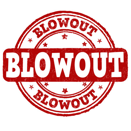 blowout: Blowout grunge rubber stamp on white background, vector illustration Illustration