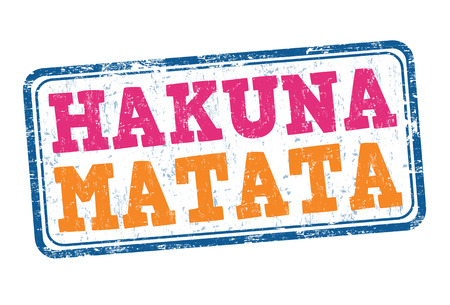 african americans: Hakuna Matata grunge rubber stamp on white background, vector illustration