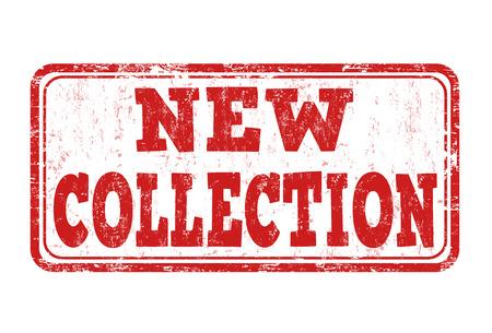 Nuevo sello de goma del grunge colección sobre fondo blanco, ilustración vectorial