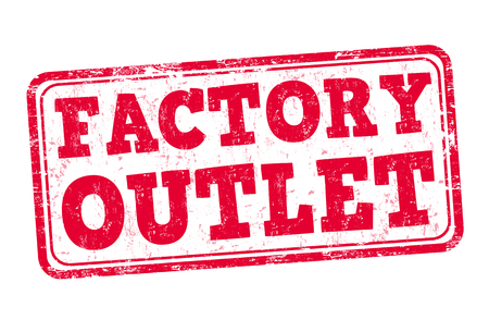 outlet: Factory outlet grunge rubber stamp on white background, vector illustration