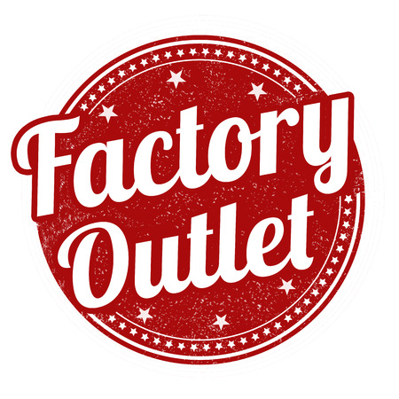 Factory outlet grunge rubber stamp on white background, vector illustration