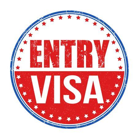 the applicant: Entry visa grunge rubber stamp on white background, vector illustration Illustration