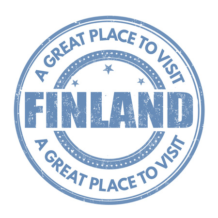 finland: Finland grunge rubber stamp on white background, vector illustration