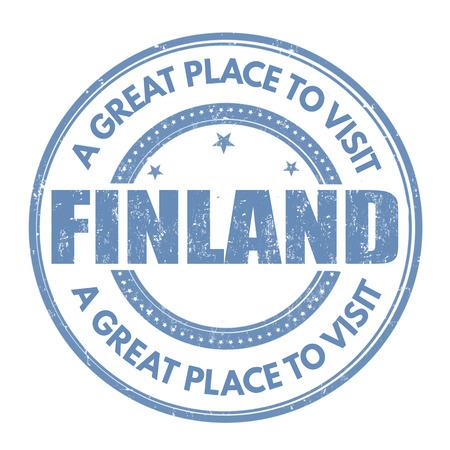 best travel destinations: Finland grunge rubber stamp on white background, vector illustration