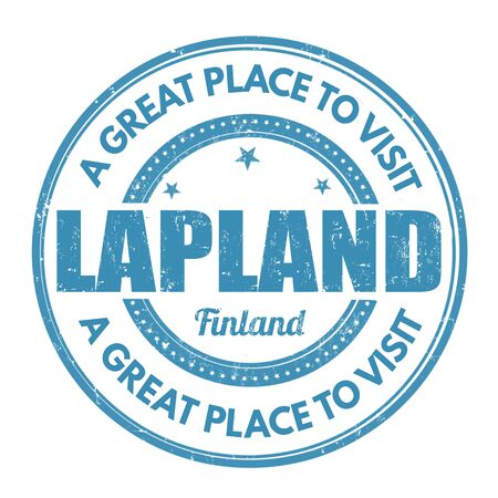 lapland: Lapland grunge rubber stamp on white background, vector illustration