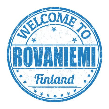 rovaniemi: Welcome to Rovaniemi grunge rubber stamp on white background, vector illustration