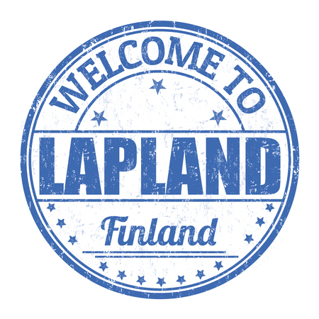 lapland: Welcome to Lapland grunge rubber stamp on white background, vector illustration