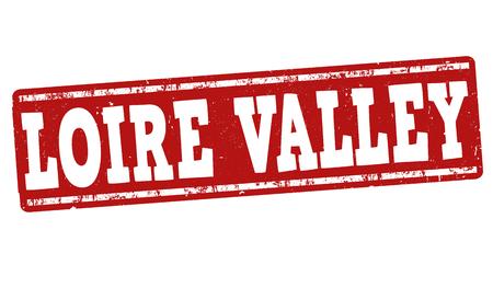 Vallée de la Loire, caoutchouc, timbre grunge sur fond blanc, illustration vectorielle Banque d'images - 43605127