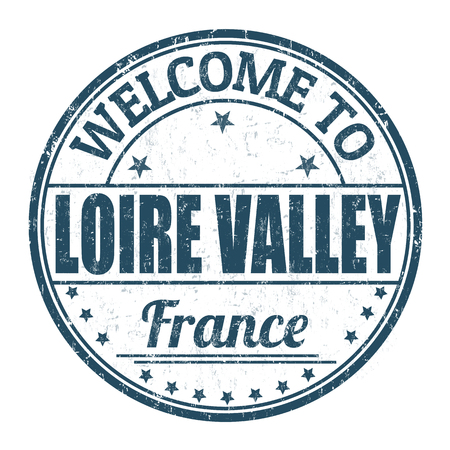Welcome to Loire Valley grunge rubber stamp on white background, vector illustration