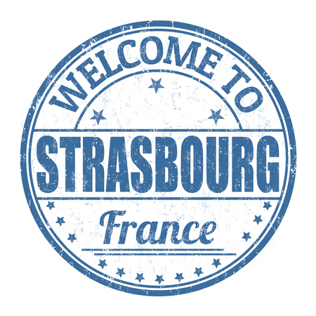 strasbourg: Welcome to Strasbourg grunge rubber stamp on white background, vector illustration