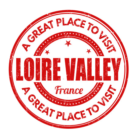 Loire Valley grunge rubber stamp on white background, vector illustration