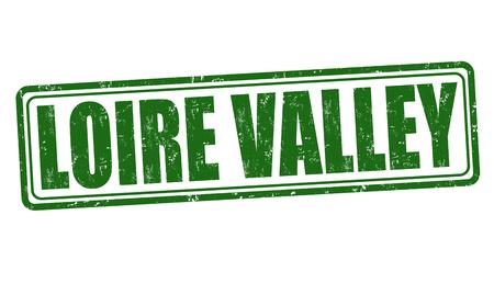 Vallée de la Loire, caoutchouc, timbre grunge sur fond blanc, illustration vectorielle Banque d'images - 43604995