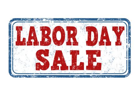 labor day: Labor day sale grunge rubber stamp on white background, vector illustration Illustration