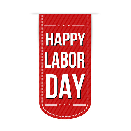 federal: Happy Labor day banner design over a white background, vector illustration