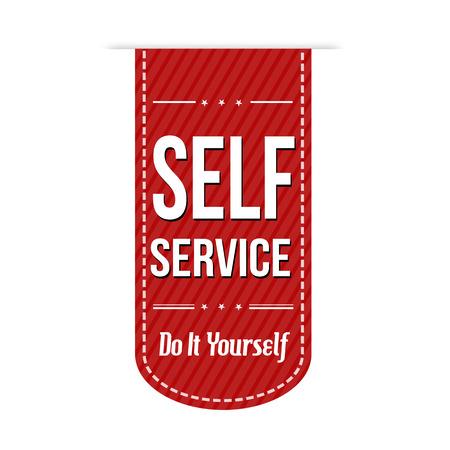 self: Self service banner design over a white background, vector illustration Illustration