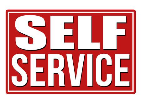 self: Self service design template on white background, vector illustration