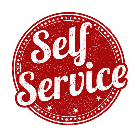 self service: Self service grunge rubber stamp on white background, vector illustration