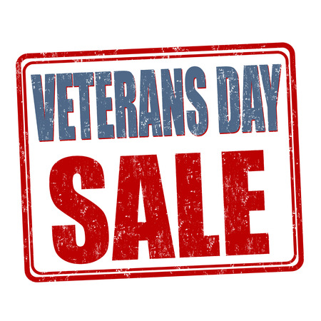 veterans: Grunge rubber stamp with the text Veterans Day Sale written inside, vector illustration