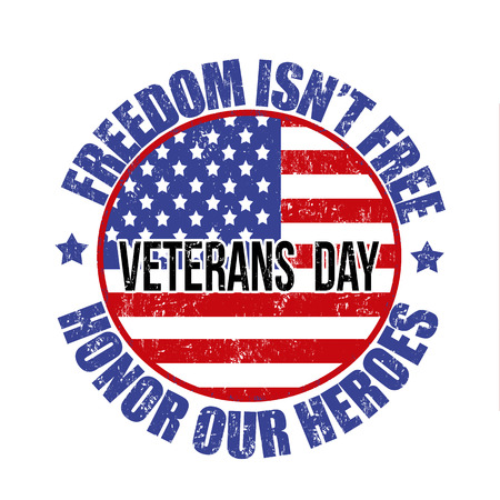 civil rights: Grunge rubber stamp with the text Veterans Day written inside, vector illustration