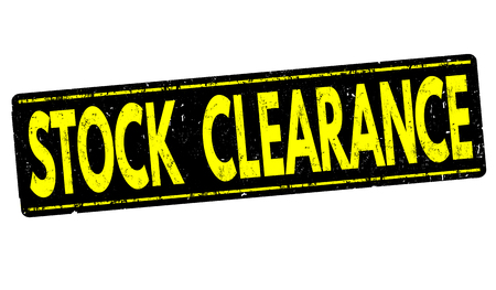 stocks: Stock clearance grunge rubber stamp on white background, vector illustration