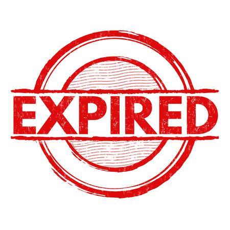validez: Expirado grunge sello de goma en el fondo blanco, ilustración vectorial