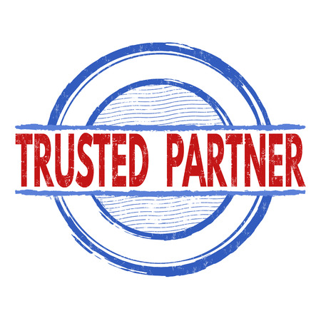 trusted: Trusted  partner grunge rubber stamp on white background, vector illustration